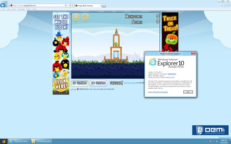 windows 8 internet explorer 10