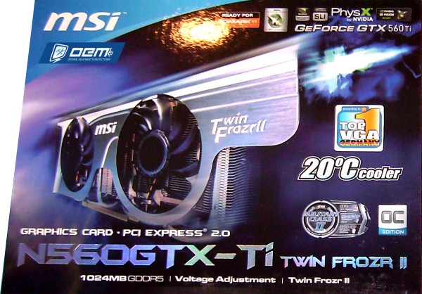 msi n560gtx-ti box